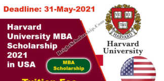 Harvard University MBA Scholarship 2021 in USA (Funded)