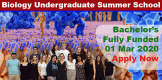 International Biology Undergraduate Summer School 2020 in Switzerland