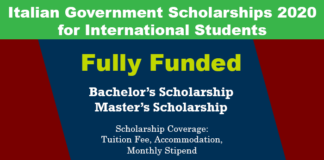 Italian Government Scholarships 2020 (Fully Funded)
