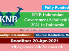 KNB Indonesian Government Scholarship 2021 in Indonesia (Fully Funded)