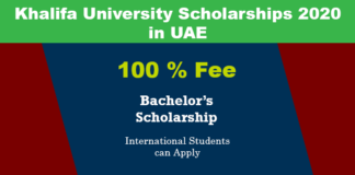Khalifa University Scholarships 2020 in UAE