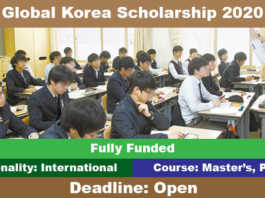 Korean Government Scholarship 2020 (Fully Funded)