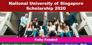 National University of Singapore Scholarships 2020 (Fully Funded)