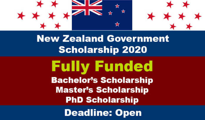 New Zealand Government Scholarship 2020 (Fully Funded)