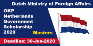 OKP Netherlands Government Scholarship 2020 (Fully Funded)