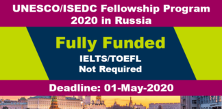 UNESCO Russia Fellowship Program 2020 (Fully Funded)