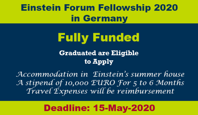 Einstein Forum Fellowship 2020 in Germany (Fully Funded)