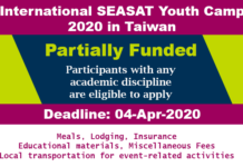 International SEASAT Youth Camp 2020 in Taiwan