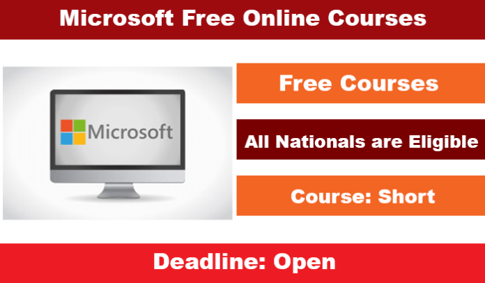 Microsoft Free Online Courses 2020 for International Applicants