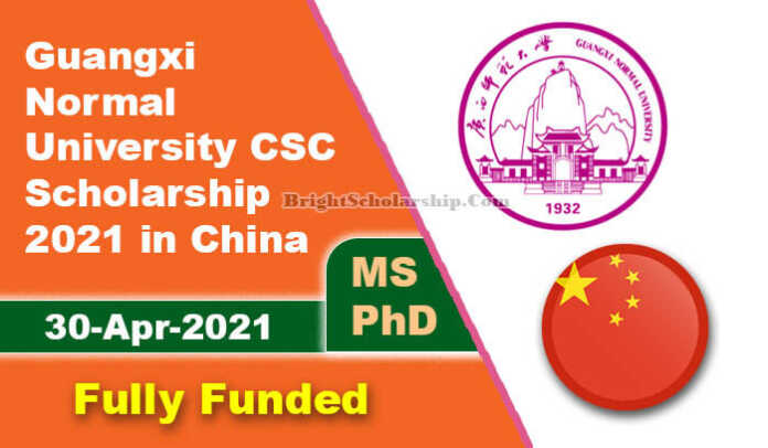 Guangxi Normal University CSC Scholarship 2021 in China (Fully Funded)