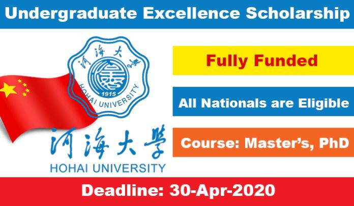 Hohai University CSC Scholarship 2020 in China (Fully Funded)