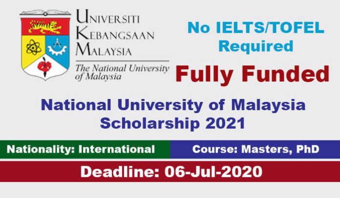 National University of Malaysia Scholarship 2021 (Fully Funded)