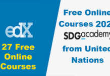 SDG Academy Free Online Courses 2021 from United Nations