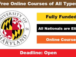University of Maryland Online Courses Free 2020 with Certificate