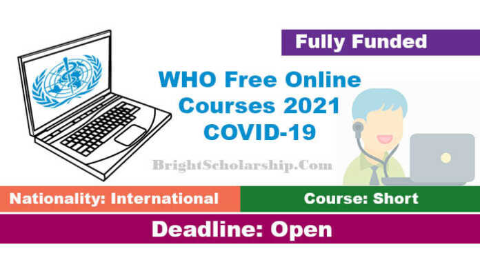 WHO Free Online Courses 2021 COVID-19