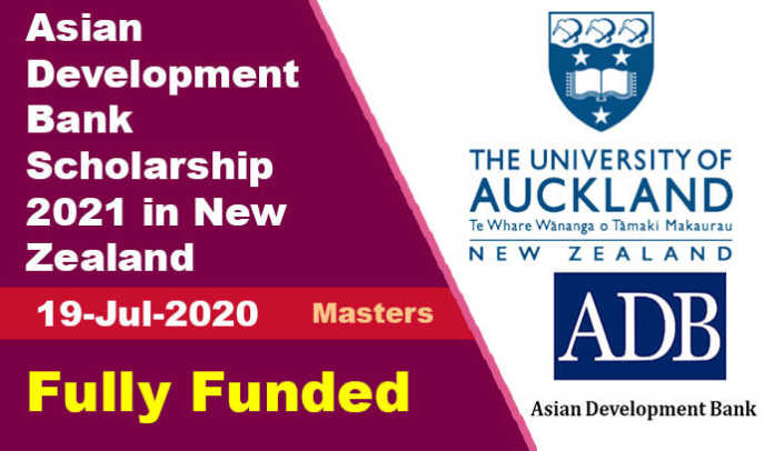 Asian Development Bank Scholarship 2021 in New Zealand (Fully Funded)