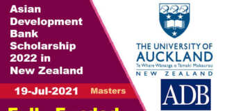 Asian Development Bank Scholarship 2022 in New Zealand (Fully Funded)