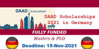 DAAD Scholarships 2021 in Germany (Fully Funded)