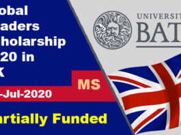 Global Leaders Scholarship 2020 at University of Bath