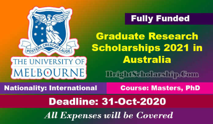 Graduate Research Scholarships 2021 in Australia (Fully ...