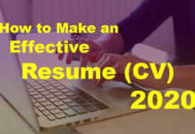 How to Make an Effective Resume (CV) 2020