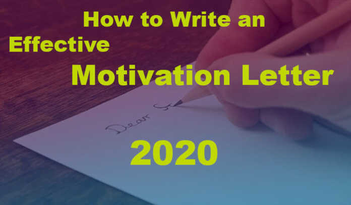 How to Write an Effective Motivation Letter 2020