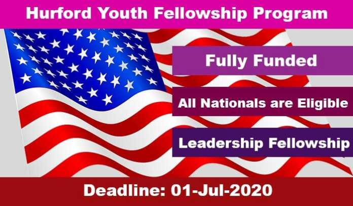 Hurford Youth Fellowship Program 2020 in USA (Fully Funded)