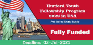 Hurford Youth Fellowship Program 2022 in USA (Fully Funded)