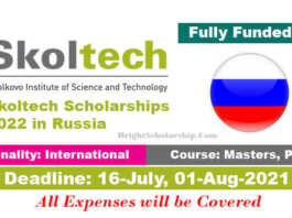 Skoltech Scholarships 2022 in Russia (Fully Funded)