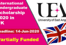University of East Anglia Scholarships 2020 in UK