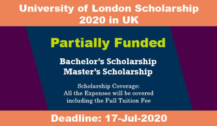University of London Scholarship 2020 in UK