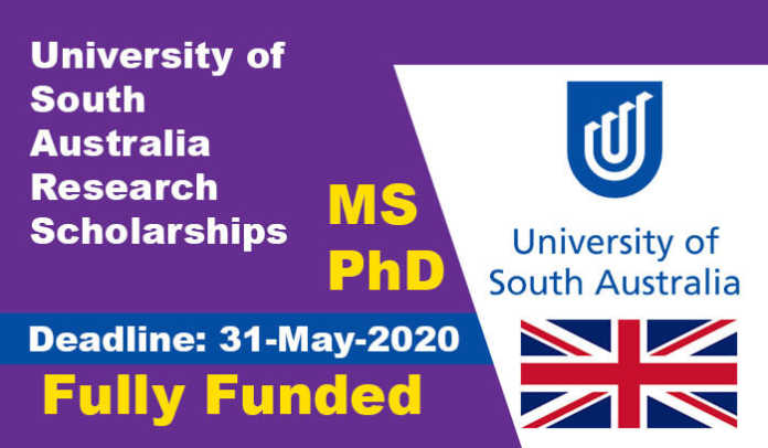 University of South Australia Research Scholarships 2021 ...