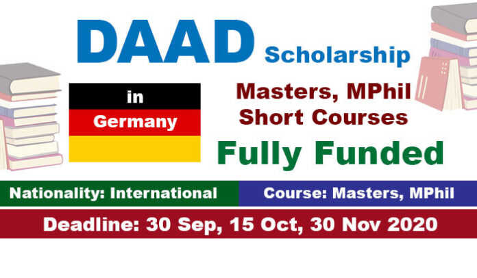 DAAD International Postgraduate Scholarship 2021 in Germany