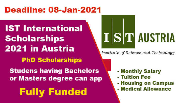 IST International Scholarships 2021 in Austria (Fully Funded)