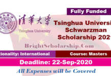 Tsinghua University Schwarzman Scholarship 2021 in China (Fully Funded)