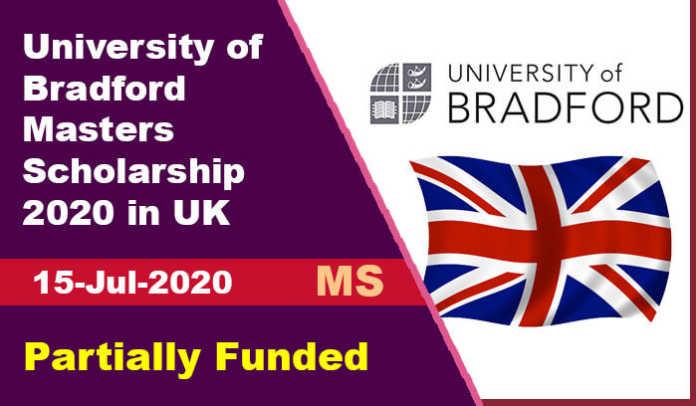 University of Bradford Masters Scholarship 2020 in UK