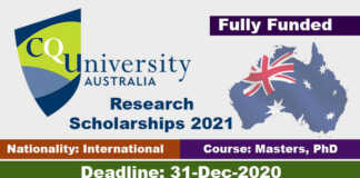 Central Queensland University RTP Scholarship 2021 in Australia (Fully Funded)
