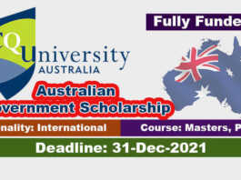 Central Queensland University RTP Scholarship 2022 in Australia (Fully Funded)