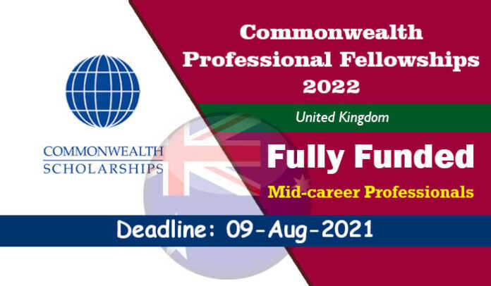 Commonwealth Professional Fellowships 2022 for Mid-career Professionals