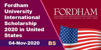 Fordham University International Scholarship 2020 in United States