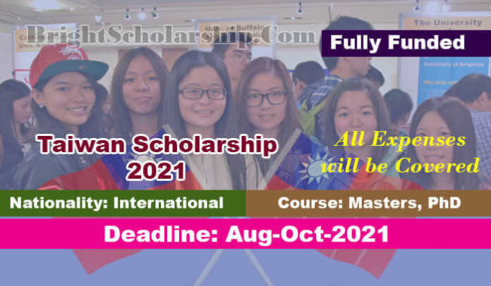 Fully Funded Taiwan Scholarship 2022 for International Students