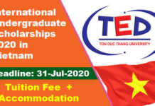 International Undergraduate Scholarships 2020 in Vietnam