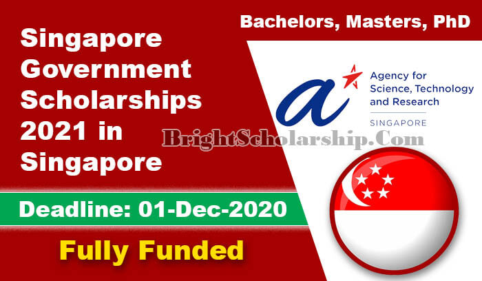 Singapore Government Scholarships 2021 for BS, MS, PhD ...