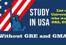 Study without GRE and GMAT in USA Universities 2022