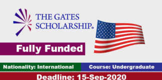 The Gates International Scholarships Program 2021 in United States (Fully Funded)