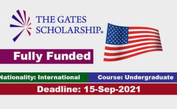 The Gates International Scholarships Program 2022 in United States (Fully Funded)
