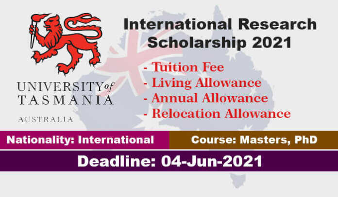 University of Tasmania Research Scholarships 2021 in Australia (Fully Funded)