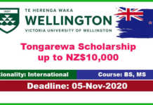 Victoria University of Wellington Scholarship 2021 for International Students