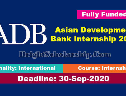 Asian Development Bank Internship 2021 (Fully Funded)