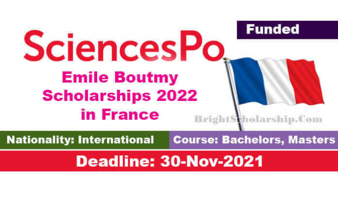 Emile Boutmy Scholarships 2022 in France (Funded)